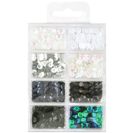 Cup Sequins 7mm .56oz-Black & White Classic - image 1 of 1