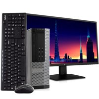 """Dell Optiplex 7010 3.20 GHz Intel i5 Quad Core, NEW 24"""" LCD, Wireless Keyboard and Mouse, 8GB DDR3 RAM, 1TB Hard Drive, Windows 10 64 bit Desktop Computer PC Refurbished"""
