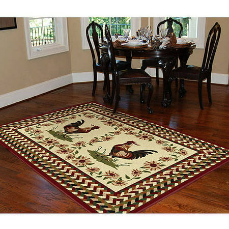 orian rooster braid rouge area rug 5 39 3 x7 39 6