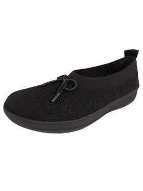 25b92a1fe86 Product Image Fitflop Womens Uberknit Slip On Ballerina With Bow Shoes