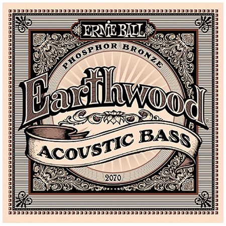 Ernie Ball 2070 Earthwood Phosphor Bronze Acoustic Bass Strings Set (45 -
