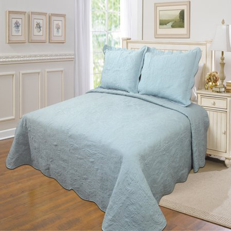 Quinn Solid Quilt Set by United Curtain Bedspreads And Curtains