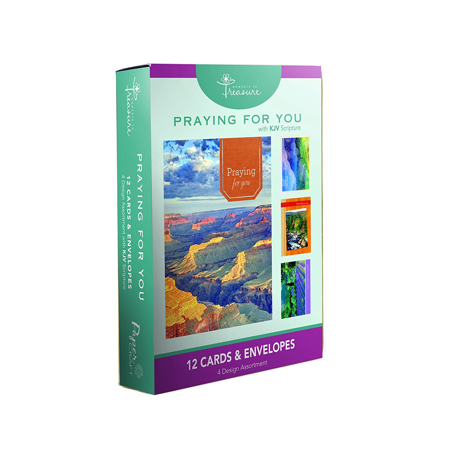 12pk Boxed Praying For You Cards Bulk With Kjv Scripture River