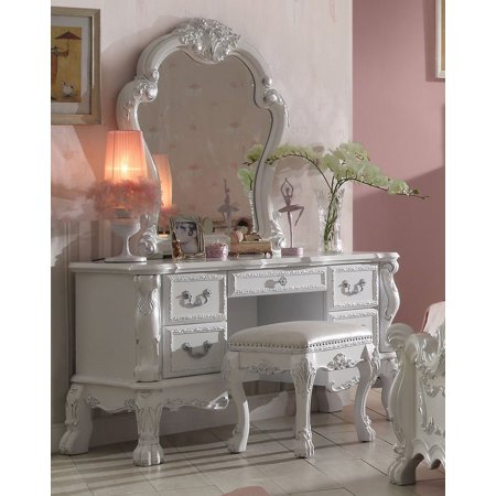 1PerfectChoice Dresden Bedroom Vanity Makeup Desk Mirror Bench Claw ...