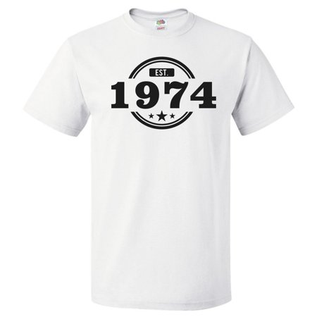 46th Birthday Gift For 46 Year Old Established 1974 T Shirt Gift
