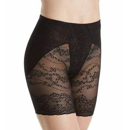 409d999781 Heavenly Secrets Shapewear 4269 Power Mesh Lace Leg Slimmer with Scalloped  Hem