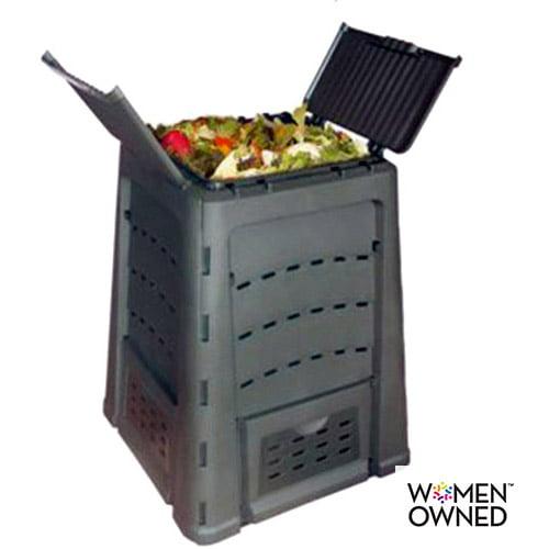 Wibo 88-Gallon Compost Bin, Black