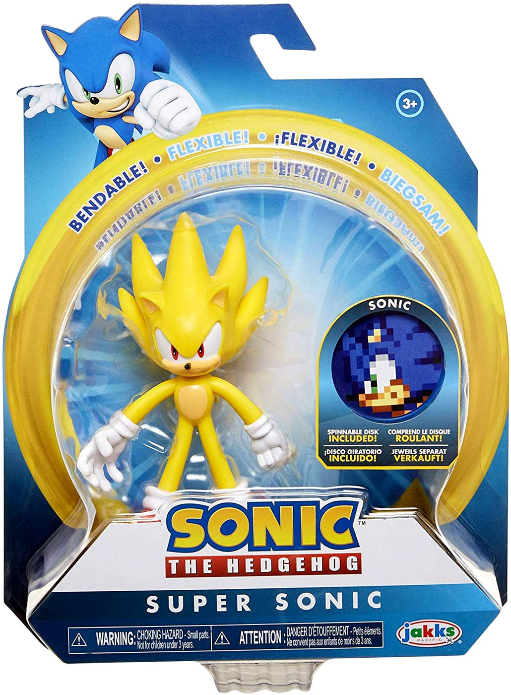 4`` Basic Figures w//Accessory Toys-Sonic Super Sonic //Toys TOY NEW
