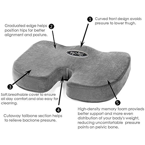 big ant orthopedic memory foam seat cushion and lumbar support