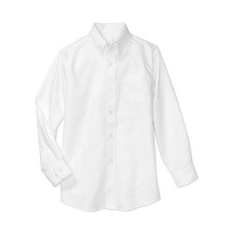 Boys School Uniforms Long Sleeve Button Up Oxford Shirt