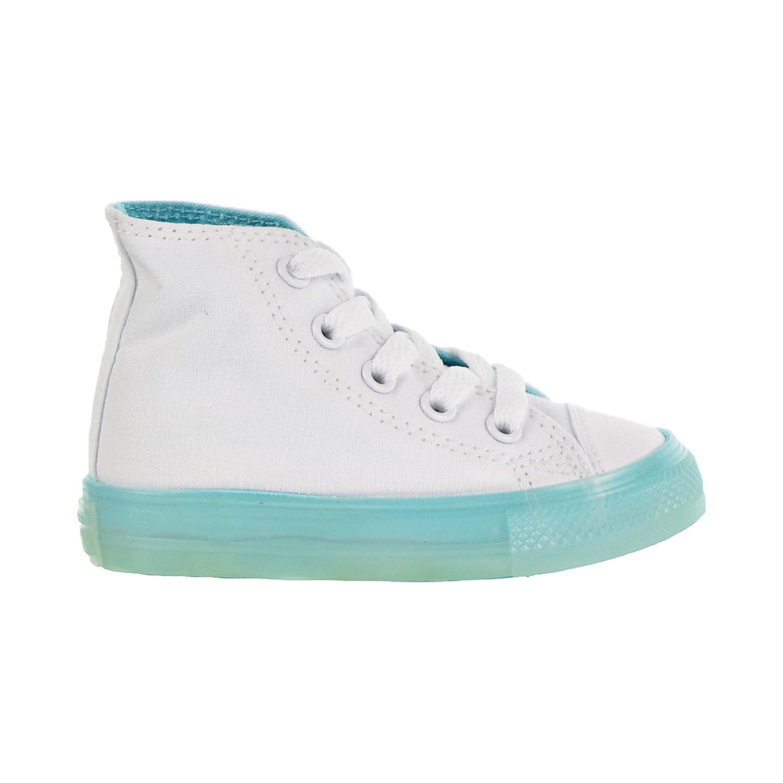 Converse - Converse Chuck Taylor All Star Hi Toddler Shoes White/Bleached Aqua 760718c - Walmart.com