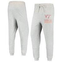 Men's Heathered Gray Virginia Tech Hokies Curb Cuffed Tri-Blend Pants