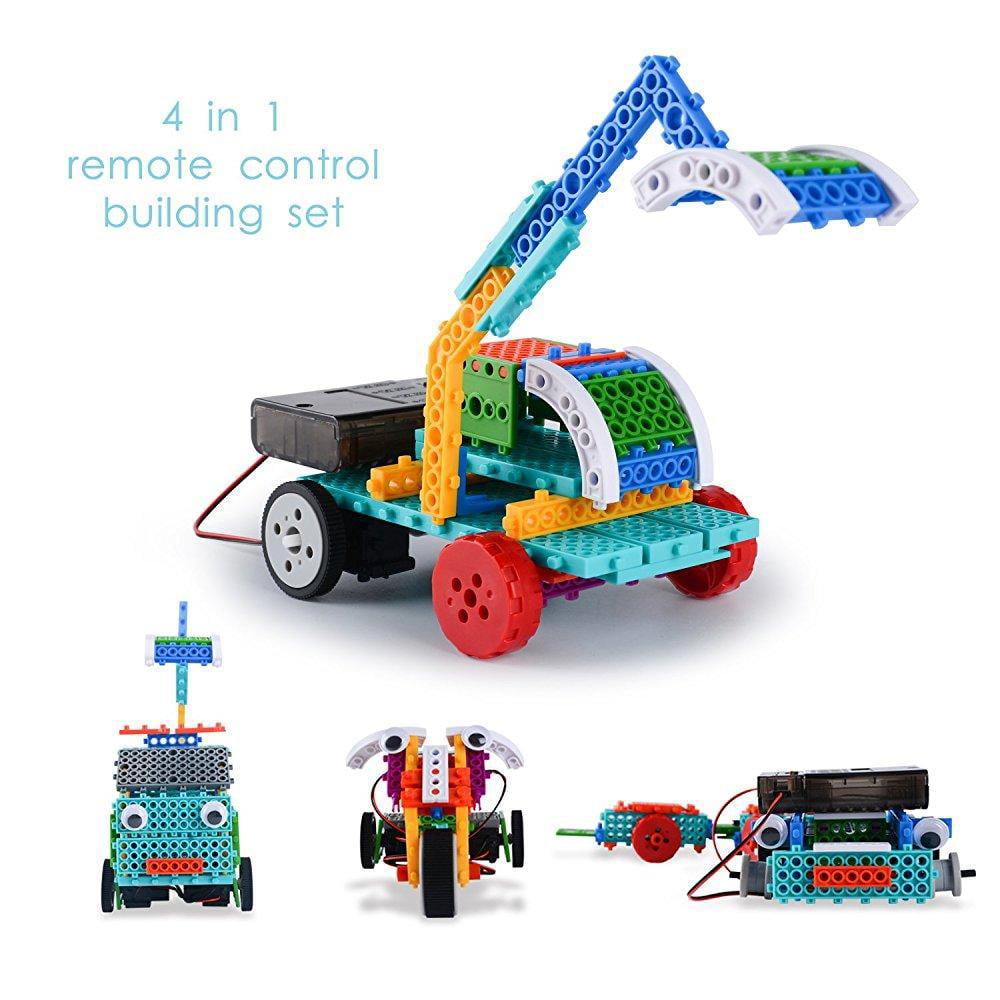 Remote Control Building Kits For Kids 127pcs Building Blocks Rc