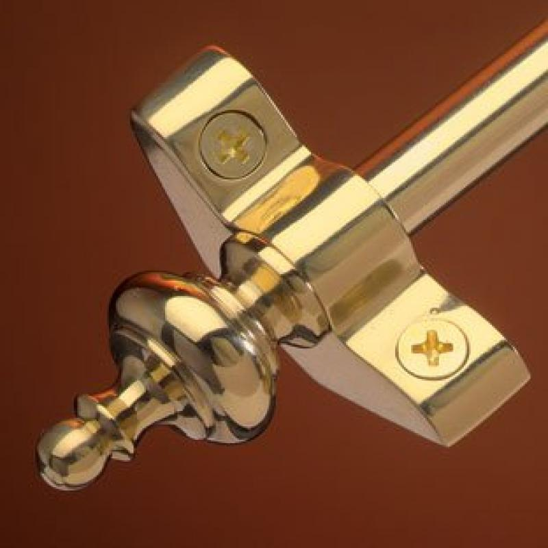 """Select 48"""" Stair Rod Set with Urn Finials Finish: Antique Brass by"""
