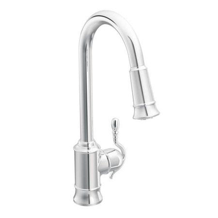 Moen 7615C Woodmere Single Handle Pull Down Kitchen Faucet