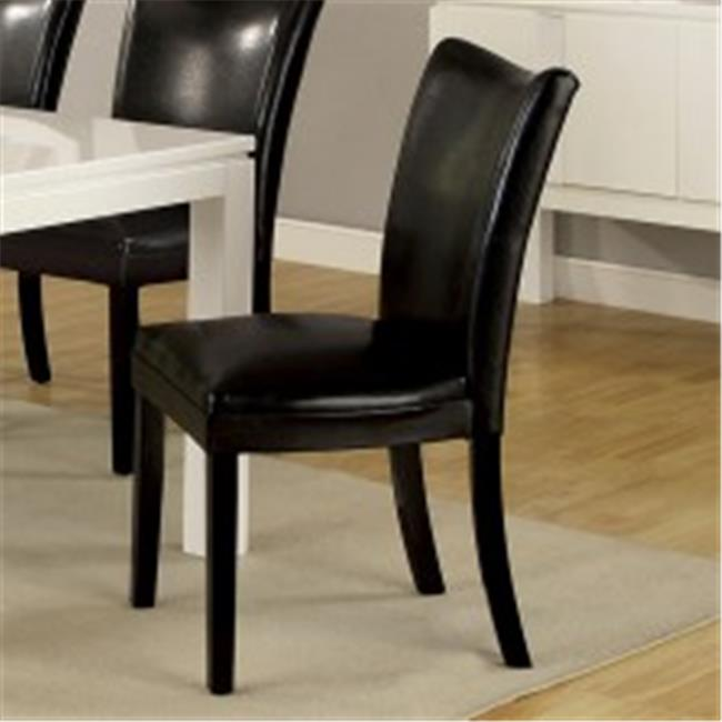 Furniture Of America IDF-3176BK-SC Lamia I Black Side Chair - 2 Pack