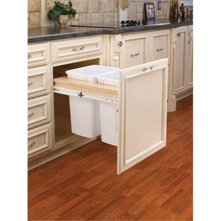Pullout Bins, Top Mount, 15 in. - Double 35 qt.