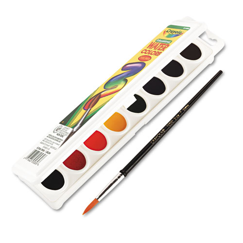 Crayola Oval Pan Watercolor Paint - 3.80 Oz - 1set - Assorted (530080)