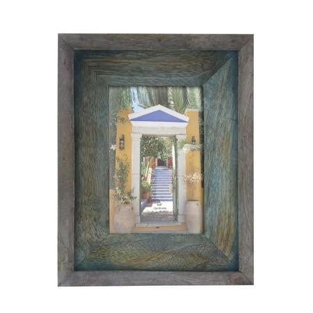 Rectangular Door Frame (Decmode Traditional 9 X 7 Inch Rectangular Dark Brown Double-Layered Wooden Picture Frame, Dark Brown )