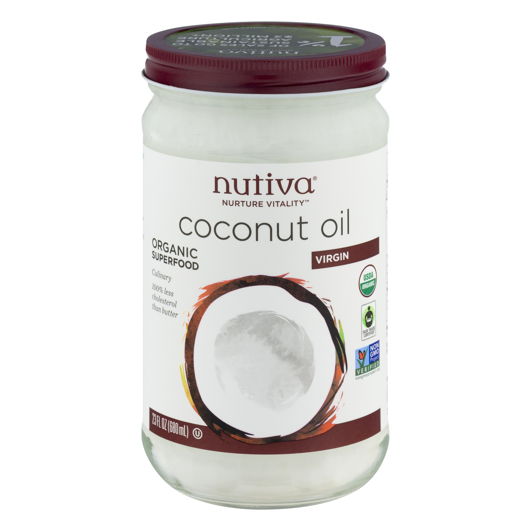 Nutiva Coconut Oil Virgin, 23.0 FL OZ