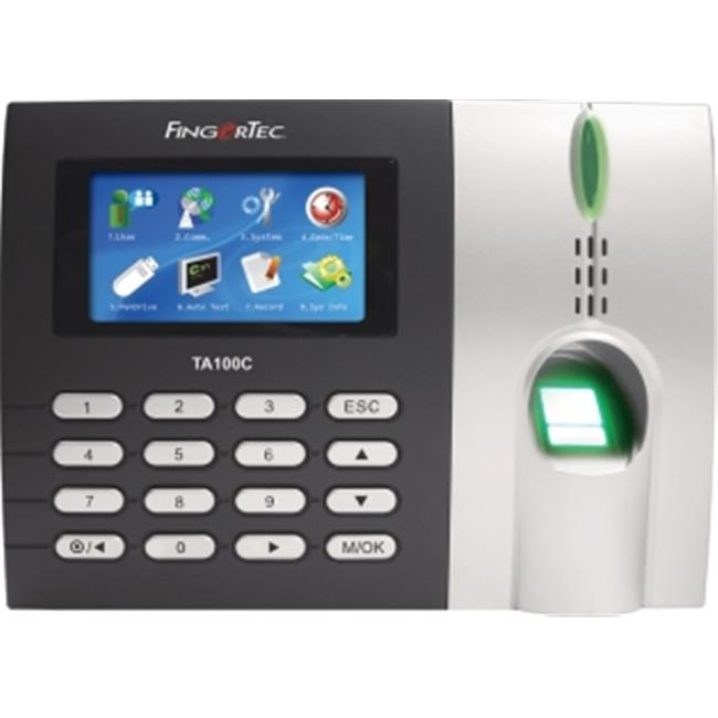 Fingertec USA Time and Attendance Time Clock with Color Display, Fingerprint  and Touch Button