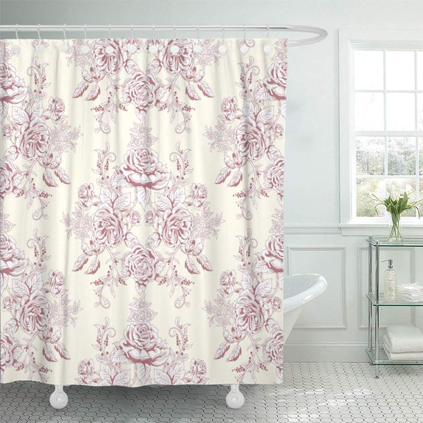CYNLON Pink Pattern of Bouquet Victorian Garden Roses ...