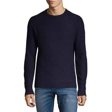 Raglan-Sleeve Lambswool Sweater