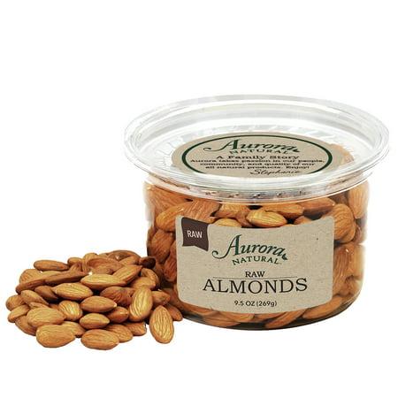 Aurora Natural Raw Whole Almonds, Unsalted, 9.5 Oz ()