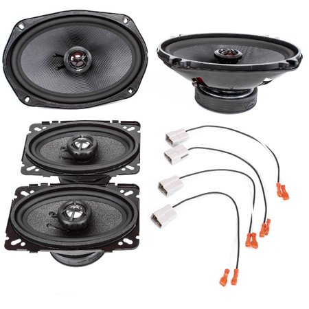 (1996-2000 Pontiac Grand AM Complete Front Door and Rear Deck Factory Speaker Upgrade Package by Skar Audio)