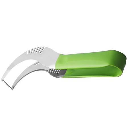 Watermelon slicer Large Stainless Steel Blade with Comfortable Silicone Handle and Reinforced Tip - Easy Healthy Eating Done Simple!