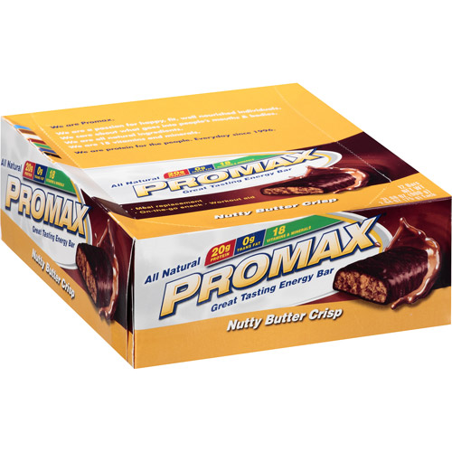 Promax Energy Bar, Nutty Butter Crsip, 20g Protein, 12 Ct