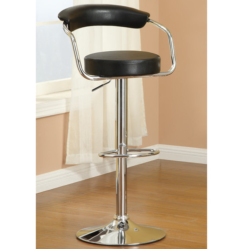 Poundex Adjustable Height Swivel Bar Stool (Set of 2)