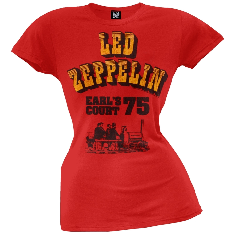 Led Zeppelin - Earl's Court '75 Juniors T-Shirt
