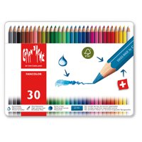 Caran d'Ache, Fancolor Water-Soluble Colored Pencils, 30 Colors