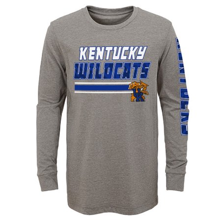 Youth Gray Kentucky Wildcats Cotton Polyester Long Sleeve T-Shirt
