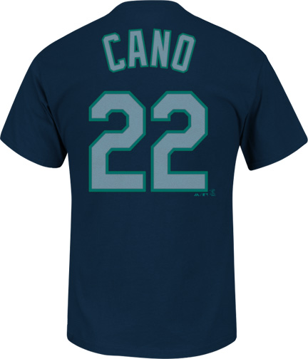 Robinson Cano Seattle Mariners MLB Majestic Player Men T Shirt by MAJESTIC LSG