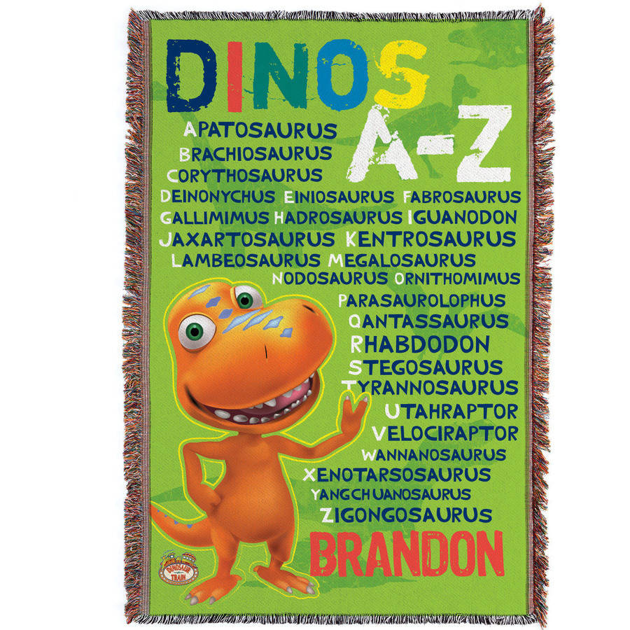 Personalized Dinosaur Train A-Z Throw Blanket