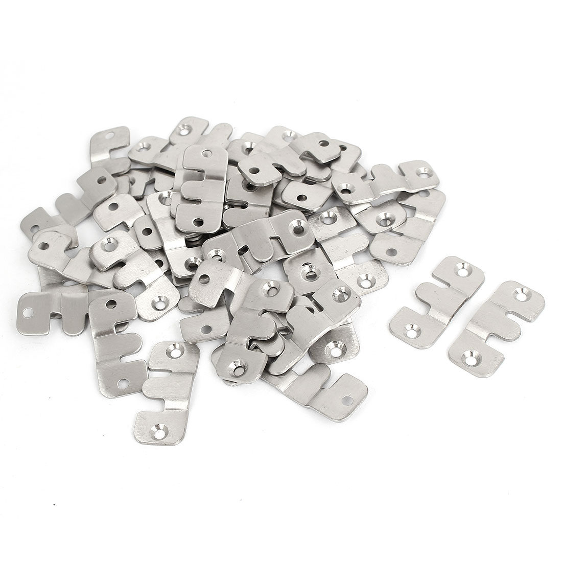Unique Bargains Stainless Steel Universal Sectional Photo Frame Sofa Connector Bracket 40pcs