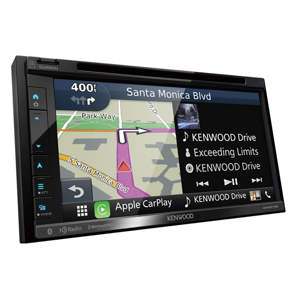 """Kenwood DNX574S 6.8"""" Double-Din In-Dash Navigation DVD Receiver With Bluetooth, Apple Carplay, Android Auto, HD... by Kenwood"""