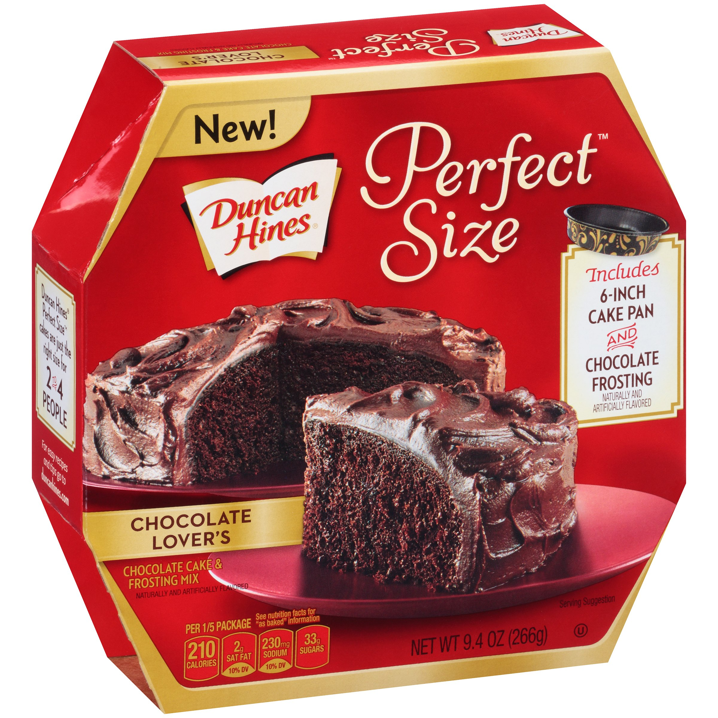 Duncan Hines Perfect Size Cake Mix Chocolate Lover's, 9.4 OZ by Pinnacle Foods Group LLC