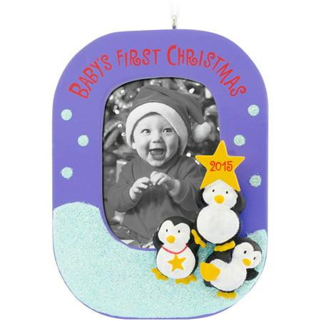 Hallmark Baby's First Christmas Photo Frame Ornament ...