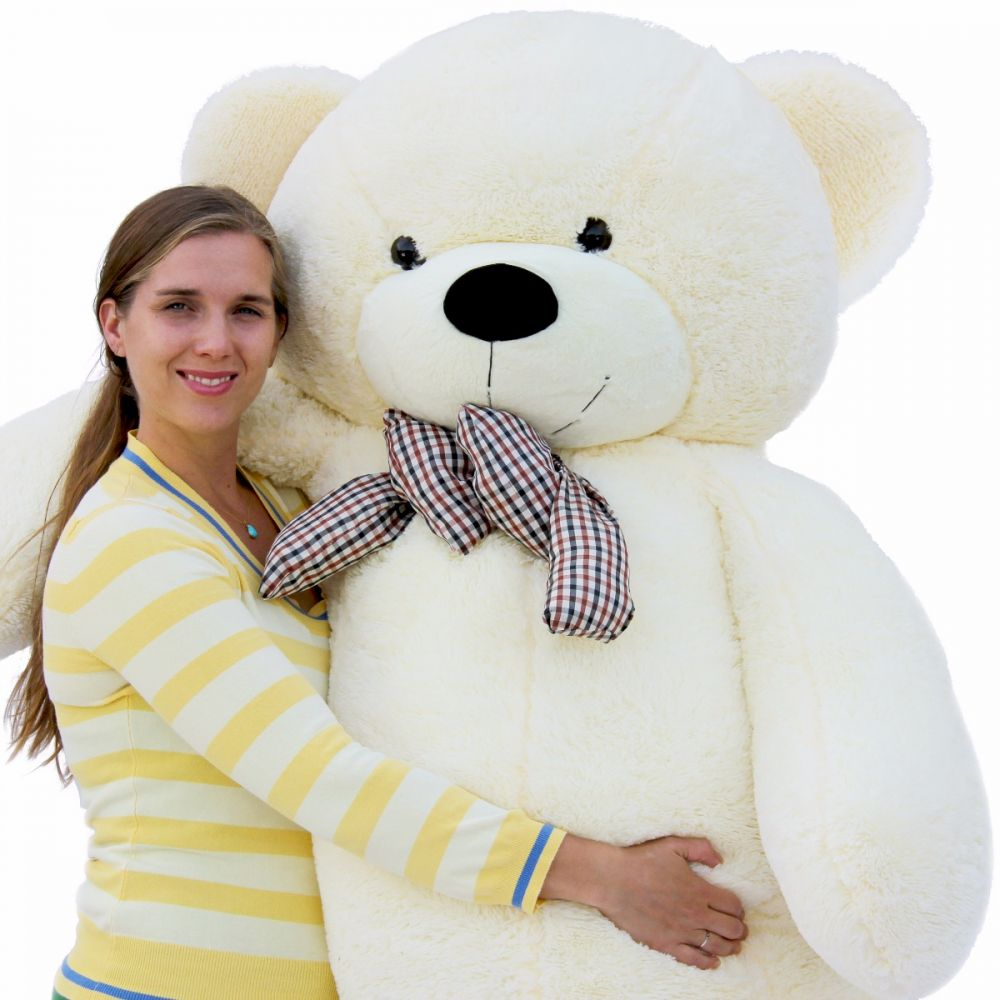 Joyfay Giant Teddy Bear in White- 6ft Big Teddy Bear, Great for Christmas, Valentines Day, and Easter by