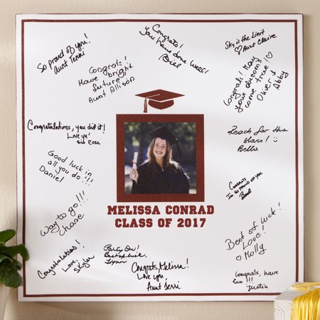Personalized Graduation Photo Autograph 16   X 16   Canvas
