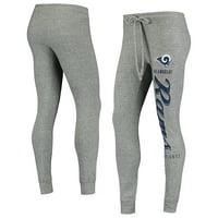 Women's Heathered Gray Los Angeles Rams Academia Cuffed Pants