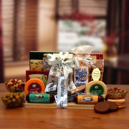 Fathers Day Ultimate Gourmet Nut & Sausage Board Gift Basket