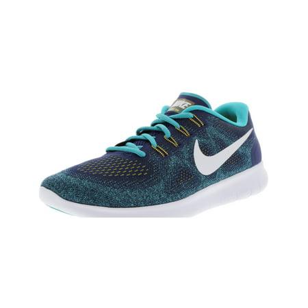 87b116de1cd4 Nike - Nike Men s Free Rn 2017 Binary Blue   White - Turbo Green Ankle-High  Running Shoe 10M - Walmart.com
