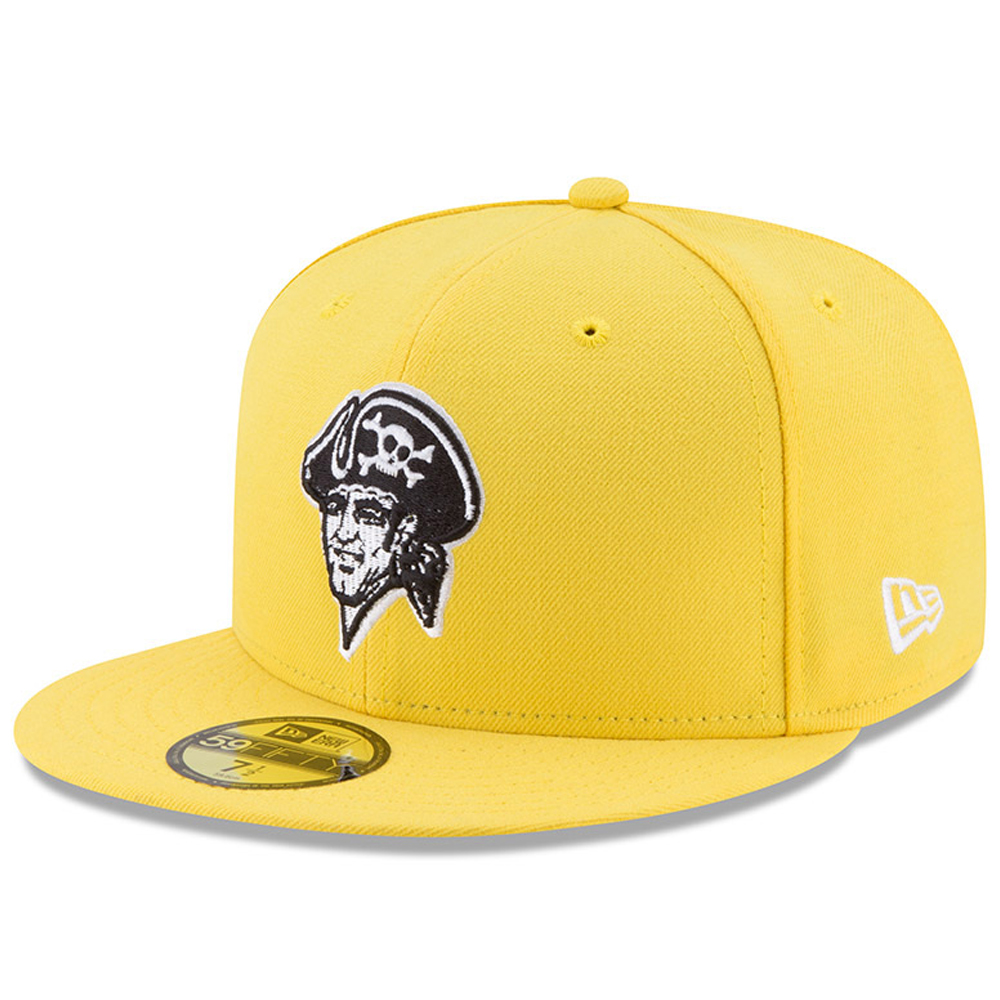 Men's New Era Yellow Pittsburgh Pirates 2017 Players Weekend 59FIFTY Fitted Hat