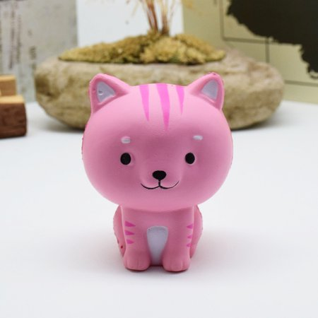 Cartoon Cat Squishy Slow Rising Phone Straps Cute Kitten Soft Squeeze Bread Charms Scented Kids Toy - Squeeze Toys