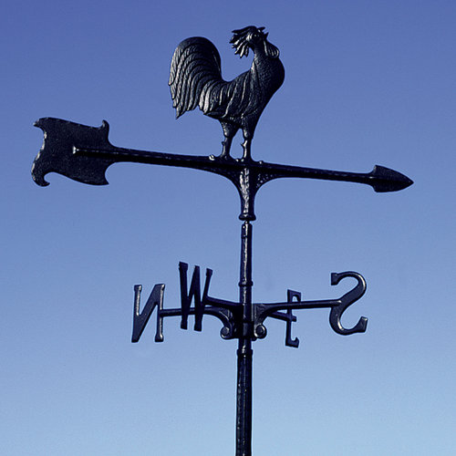 30 Rooster Accent Weathervane, Black by