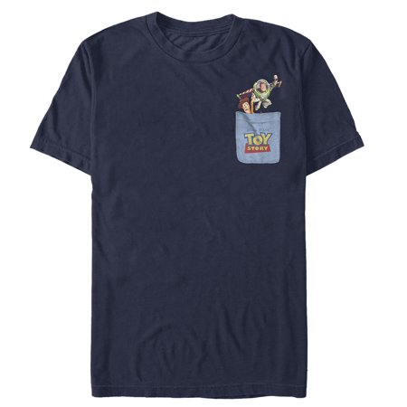 Painted Pocket - Toy Story Men's Buzz & Woody Pocket Print T-Shirt